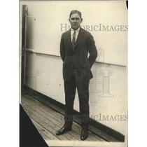 1923 Press Photo Joe Kirkwood Australian golf chamo arrives from Europe