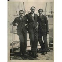 1922 Press Photo Henri Cochet, Angre Cobert, Jean Borotra French tennis players