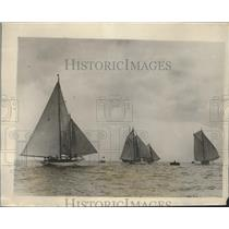 1928 Press Photo Ocean Yacht Race in Plymouth England 615 Miles in Distance