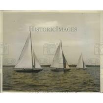 1928 Press Photo Junior Sailors in Annual Regatta of Milton Point Rye NY