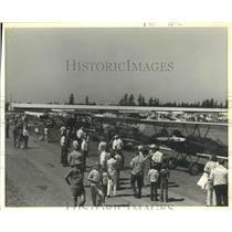 1977 Press Photo Antique Airplane Festival, Washington - ftx01658