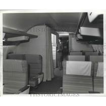 1963 Press Photo Interior of Boeing 727 Airplane - ney26187