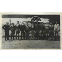 1932 Press Photo Stunt Fliers of Associated Motion Picture Pilors - ney26203