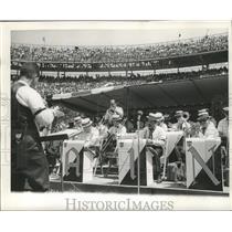 1967 Press Photo New Orleans Saints Band Performs at Stadium - noa00796