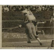 1968 Press Photo New Orleans Saints - Tony Lorick & Steelers Marv Woodson Action