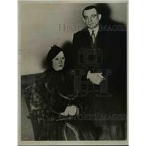 1934 Press Photo Jack Reynolds, Wrestler & Wife Alice Martin - nef34382