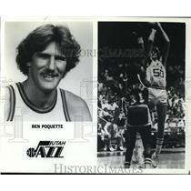 1981 Press Photo Ben Poquette, Utah Jazz - orc00922