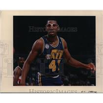 Press Photo Thurl Bailey in one of his intense game for Utah Jazz - orc01476