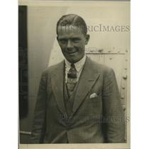 1923 Press Photo BIC Norton English tennis star arrives in NYC - net32364
