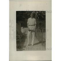 1919 Press Photo Captain Louis Graves of Harvard tennis team - net33207