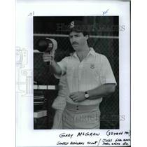 1991 Press Photo Gary McGraw, Seattle Mariners scout - orc11409