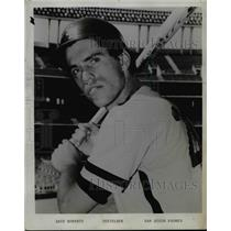 Press Photo Dave Roberts- Infielder- San Diego Padres - orc11078