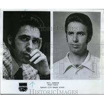 1975 Press Photo Phil Johnson, Head Coach for Kansas City-Omaha Kings