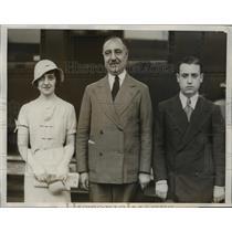 1932 Press Photo Argentinian Olympian Representatives Arrive in LA - nef38637