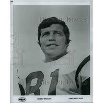 Press Photo Gerry Philbin, Defensive End, Jets - orc10924