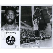Press Photo Bruce Campbell, F, 6'9, New Jersey Nets - orc09942