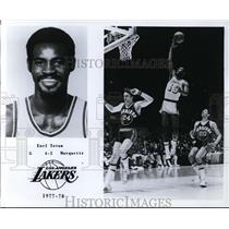 1977 Press Photo Earl tatum, Los Angeles Lakers - orc09360