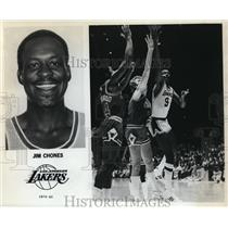1980 Press Photo Jim Chones, Los Angeles Lakers, 1979-80 - orc10060