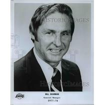 1977 Press Photo Bill Sharman, General Manager, Los Angeles Lakers, 1977-78