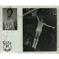 1975 Press Photo Joe Ellis of Golden State Warriors in an awesome performance