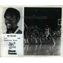 Press Photo Ted McClain, 6'3, 200, Tennessee State, Denver Nuggets - orc07247