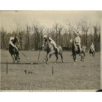 1920 Press Photo L Waterbury & Rumsey at polo contest - net31163