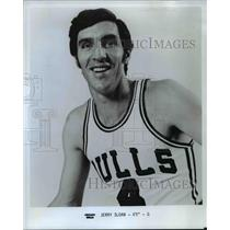 """1975 Press Photo Jerry Sloan 6'5"""" Guard Chicago Bulls - orc11292"""