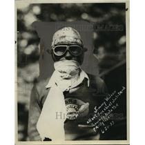 1933 Press Photo Jimmy Wilson all set for short dirt track racing - net33548