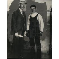 1925 Pres Photo Jack Kearns with Mickey Walter Welterweight Champion New Partner