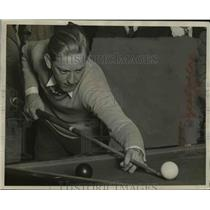 1929 Press Photo Charles Jordan of Amateur Billiards Tournament, Milwaukee