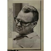 1974 Press Photo Coach Norm Van Brocklin relieved of his General Manager duties