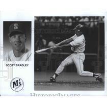 1990 Press Photo Seattle Mariners baseball player, Scott Bradley - sps00284