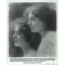 1907 Press Photo The Reed Twins at Start of Song and Dance Career - mjx25792