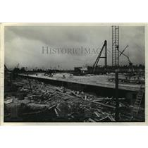1937 Press Photo Concrete Wharf and Cold Storage Warehouse in Mobile, Alabama