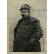 1925 Press Photo General Liuigi Capello arrested in Rome for assassination plot