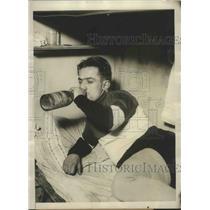 1929 Press Photo Franco Georgetti, Dynamic Italian Pedal Pusher at New York