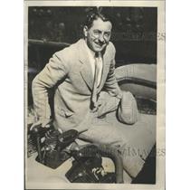 1928 Press Photo Martin Jensin Starts Exhibition Tour of U.S. in His Plane Aloha