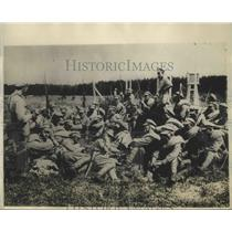 1929 Press Photo Types of Young Russian soldiers as they appeared at rest