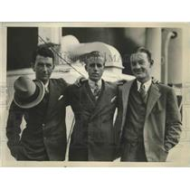 1931 Press Photo Three Member of American Davis Cup Team Return on Ile De France