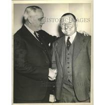 1941 Press Photo John Hans Lobert manager of Phillies & club prexy Gerry Nugent
