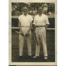 1924 Press Photo Brian Norton, Clarence Griffin at National tennis Forest Hills