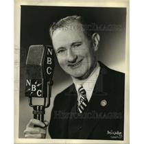 1938 Press Photo Clem McCarthy NBC sports reporter & commentator - sbx00912