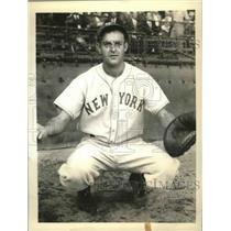 1934 Press Photo Ed Madjeski, catcher, New York Giants - sbs02950