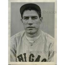 "1929 Press Photo Clarence ""Footsie"" Blair, Chicago Cubs infielder - sbs03023"