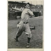 "1929 Press Photo Elmer ""Woody"" English, shortstop, Chicago Cubs - sbs03034"
