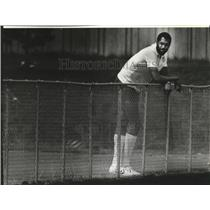 1983 Press Photo Seattle Supersonics basketball player, James Donaldson