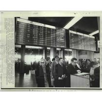 1970 Press Photo View of passengers waiting at JFK Airport in New York.