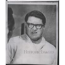 1963 Press Photo Detroit Lions football player, Alex Karras - sps03481