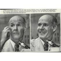1972 Press Photo Tom Landry-Dallas Cowboys Football Coach at News Conference