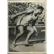 1928 Press Photo Eric Krenz Holder of Best Amateur Mark of 158-Feet 1-3/4 Inches